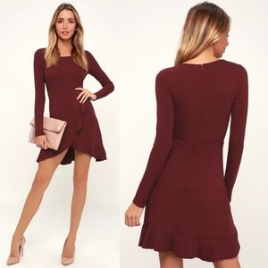 Lulu's Compliment Catcher Long Sleeve Mini Dress